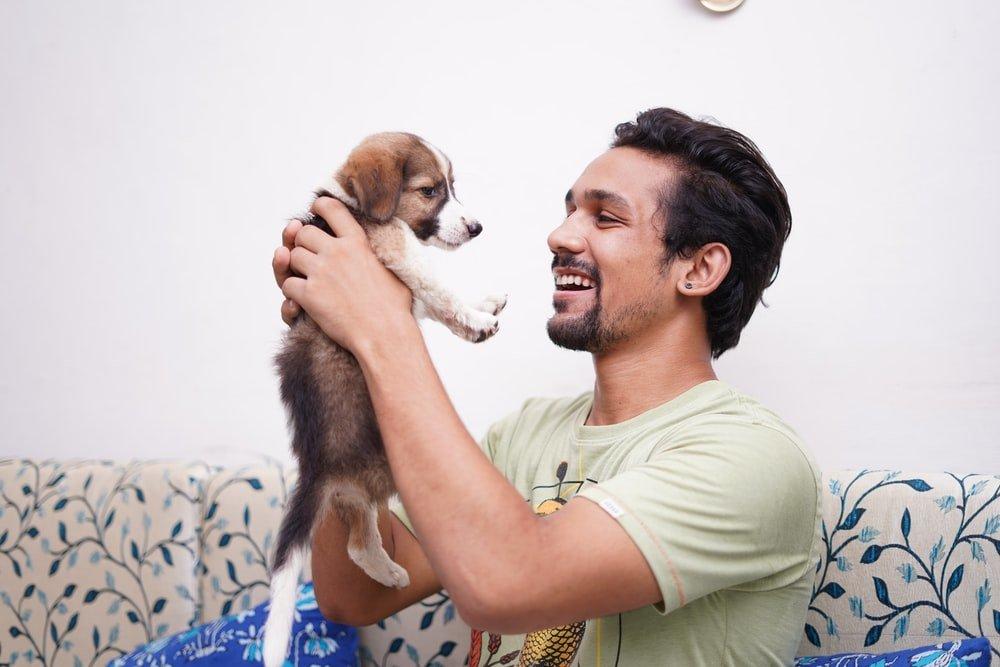 puppy-man-blij