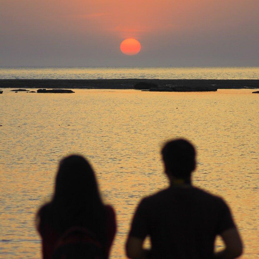 koppel-zonsondergang